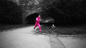 Running man In pink