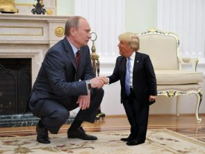 Tiny Trump meets putin