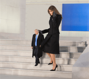 Tiny Trump with his beautiful wife