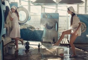 nun washing