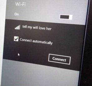 tell my wifi love her