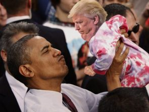 tiny trump is a little baby compared to obama