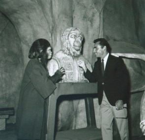 Rod Serling on the Planet of the Apes Set