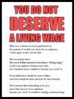 you do not deserve a living wage
