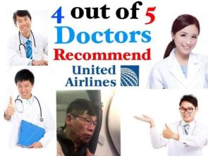4 out of 5 doctors recommend United Airlines