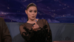 Ariel Winter gives Conan the middle finger and is kissy