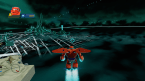 Baymax flying into Tron city
