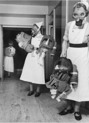 Gas Masks For Babies Tested At An English Hospital, 1940
