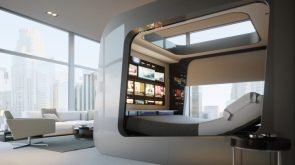 HiCan futuristic canopy luxury bed