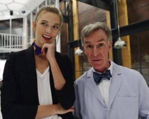 Karlie Kloss and Bill Nye