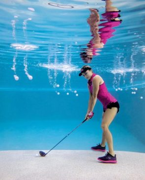 Lexi Thompson – Underwater Golf shoot January 2017
