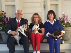 Mike Pence and family with their pets