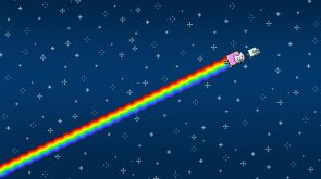 Nyan Cat goes to the side