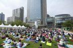 Yoga in Tokyo Midtown, Tokyo, Japan