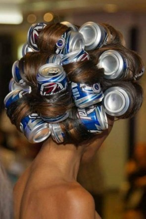beer can hair do