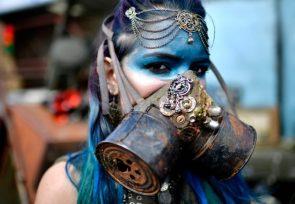 blue gasmasks