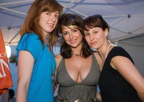 Milana Vayntrub at a WMC 2009 Rooftop Pool Party in Miami – 3-27-09