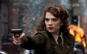 Agent Peggy Carter with a pistol
