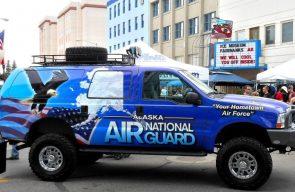 Alaska Air National Guard Truck in Fairbanks Alaska