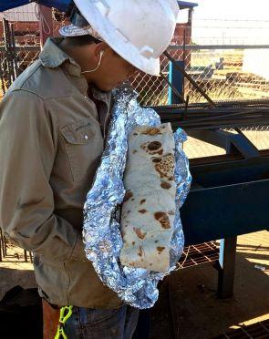 Baby sized burrito