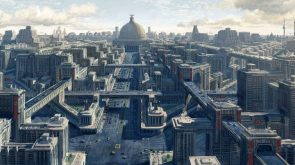 Berlin Concept Art by Axel Torvenius from the game Wolfenstein The New Order