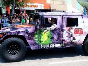 California National guard hummer