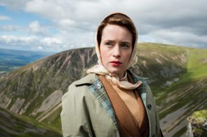 Claire Foy on a mountain