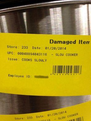 Damaged Slow Cooker