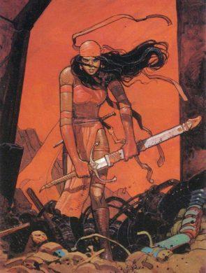 Elektra has a big sword