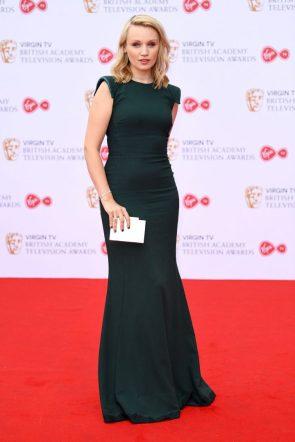 Emily Berrington In A Beautiful Green Dress
