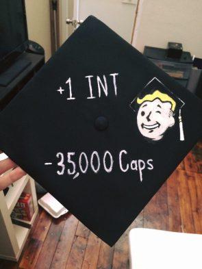 Fallout graduation cap