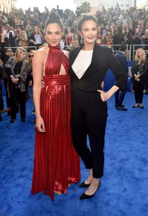 Gal Gadot and Lynda Carter at the premiere of 'Wonder Woman' in Los Angeles