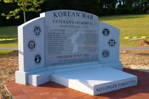 Korean War Memorial in Stone