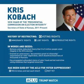 Kris Kobach has lost four lawsuits