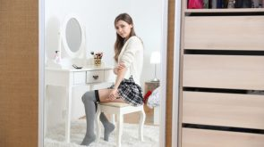 Mila Azul Getting Ready for the Day