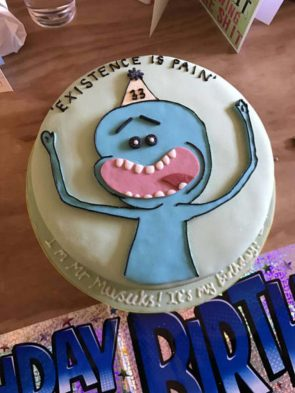 Mr Meseeks Birthday Cake