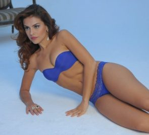 Paloma Bernardi in blue bikini
