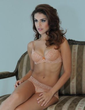 Paloma Bernardi in her bra and panties