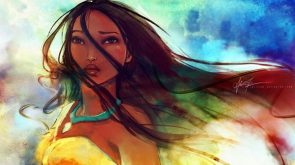 Waterpainted Indian Woman