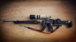 camera gear assault rifle