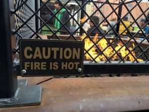 caution, fire is hot