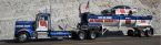 national guard truck and race car