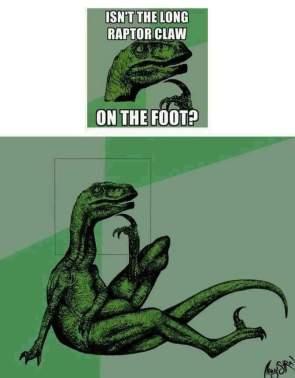 raptor claw question