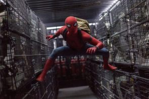 spider-man with backpack