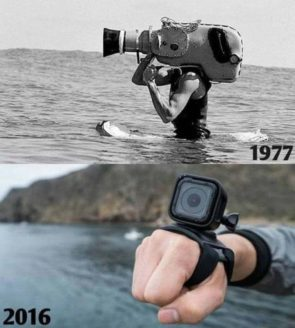water cameras then and now
