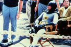 Adam West chilling on the set