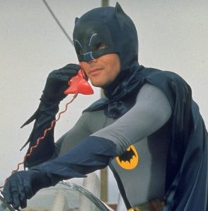 Adam West on red phone