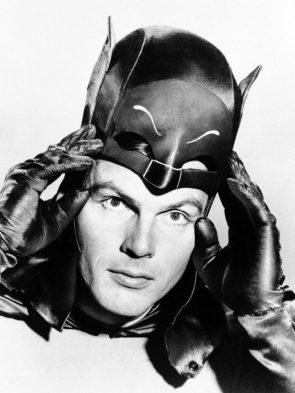 Adam West taking off his batman mask