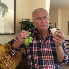 Adam west with grapes