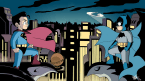 Chibi Batman and Superman